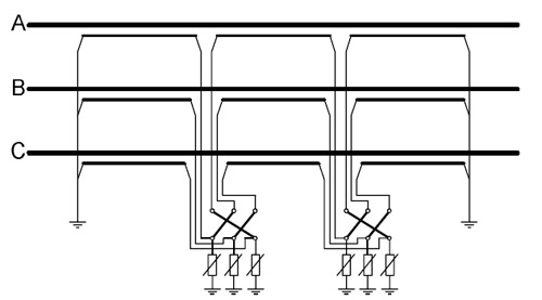 Схема соединения экранов