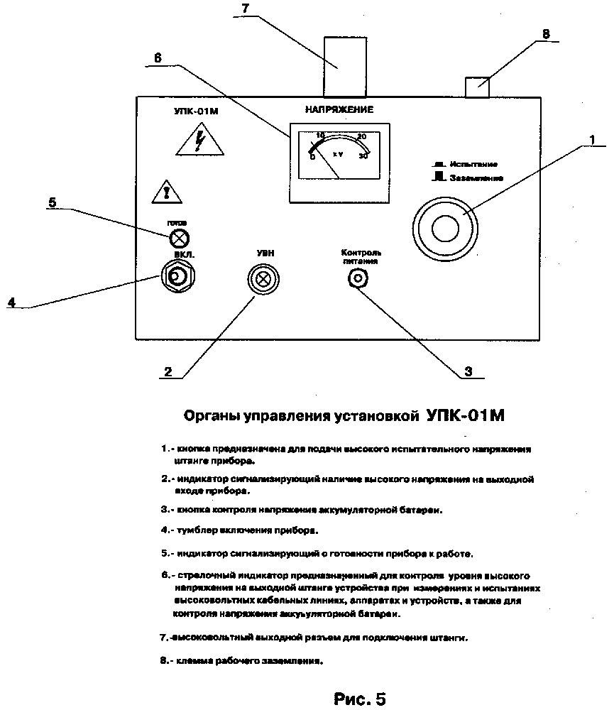 инструкция по работе на стационарной испытательной установке аи 70