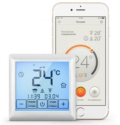 Новый терморегулятор от ССТ позволяет управлять обогревом с сенсорной панели или через мобильное приложение