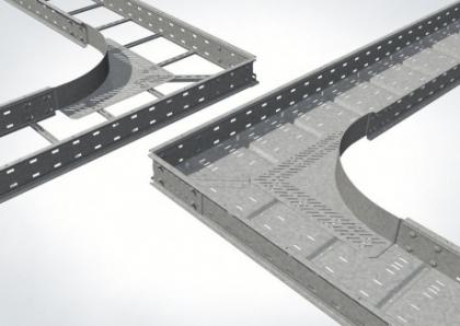 Новые поворотые элементы для широкопрофильных лестниц WPREAB и лотков с широким пролетом WPLEAB от PUK Group GmbH