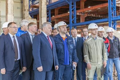Губернатор Хабаровского края посетил строящуюся ТЭЦ в Советской Гавани