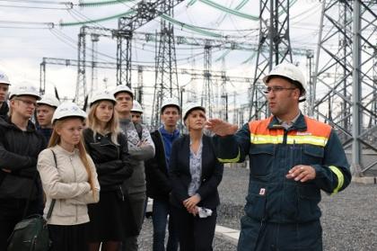 Студенты Сибирского федерального университета посетили самую современную подстанцию Красноярска