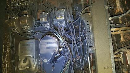 Из-за пожара многоквартирный дом остался без электричества