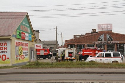 Архангельск: в магазине Мебель-Hit от короткого замыкания закоптилась мебель