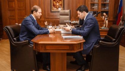 Денис Мантуров провел встречи с главами российских регионов