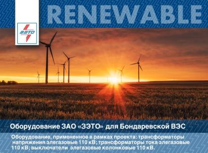 ЗАО ЗЭТО продолжает поставки на объекты ветрогенерации