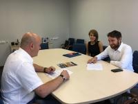 Подписание соглашения Александром Гусевым и Валентином Бойковым
