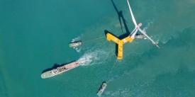В Китае построена платформа для плавучих ветровых турбин, устойчивая к тайфунам
