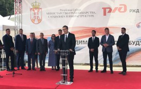 РЖД Интернешнл установила в Сербии последнее звено железной дороги Белград - Нови-Сад