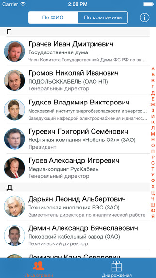 RusCable.ru, Мобильное приложение, Лица отрасли, RusCable.Ru-услуги