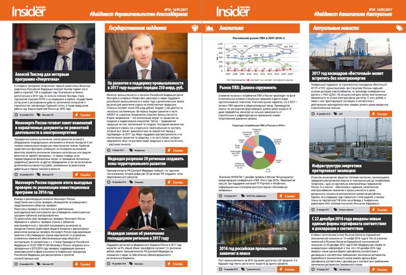 RusCable Insider Digest №18 от 17 января 2017 года