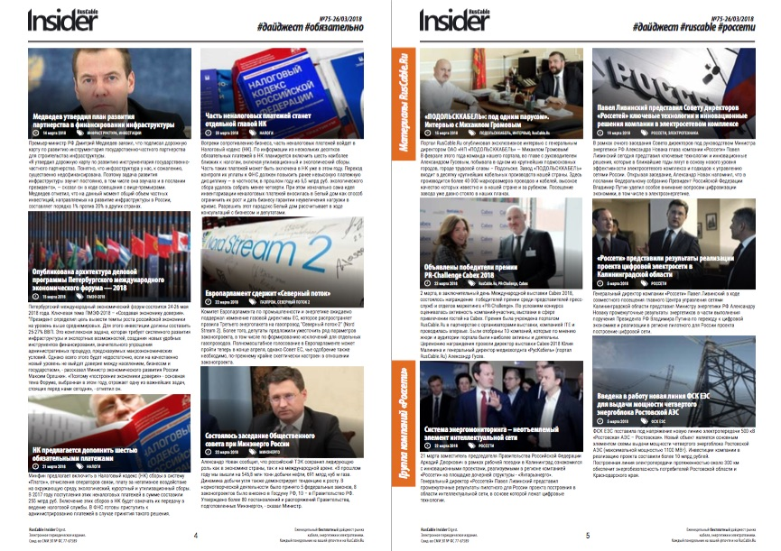 RusCable Insider, НОВОСТИ, RusCable.Ru