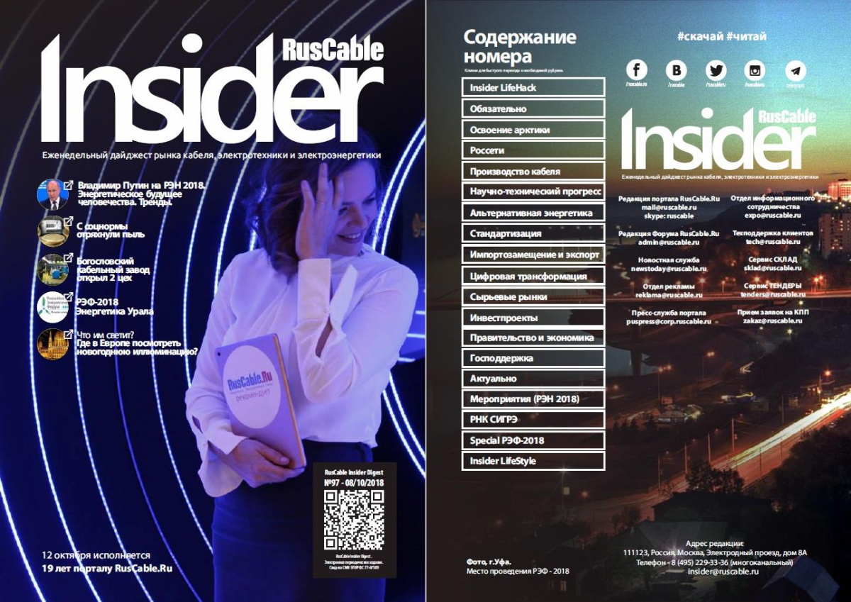 RusCable Insider Digest №97 от 8 октября 2018 года