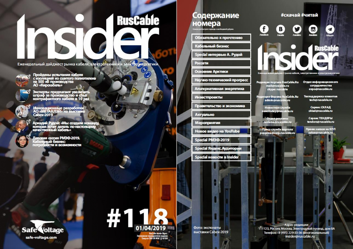 RusCable Insider Digest № 118