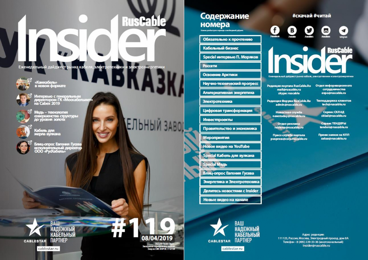 RusCable Insider Digest № 119