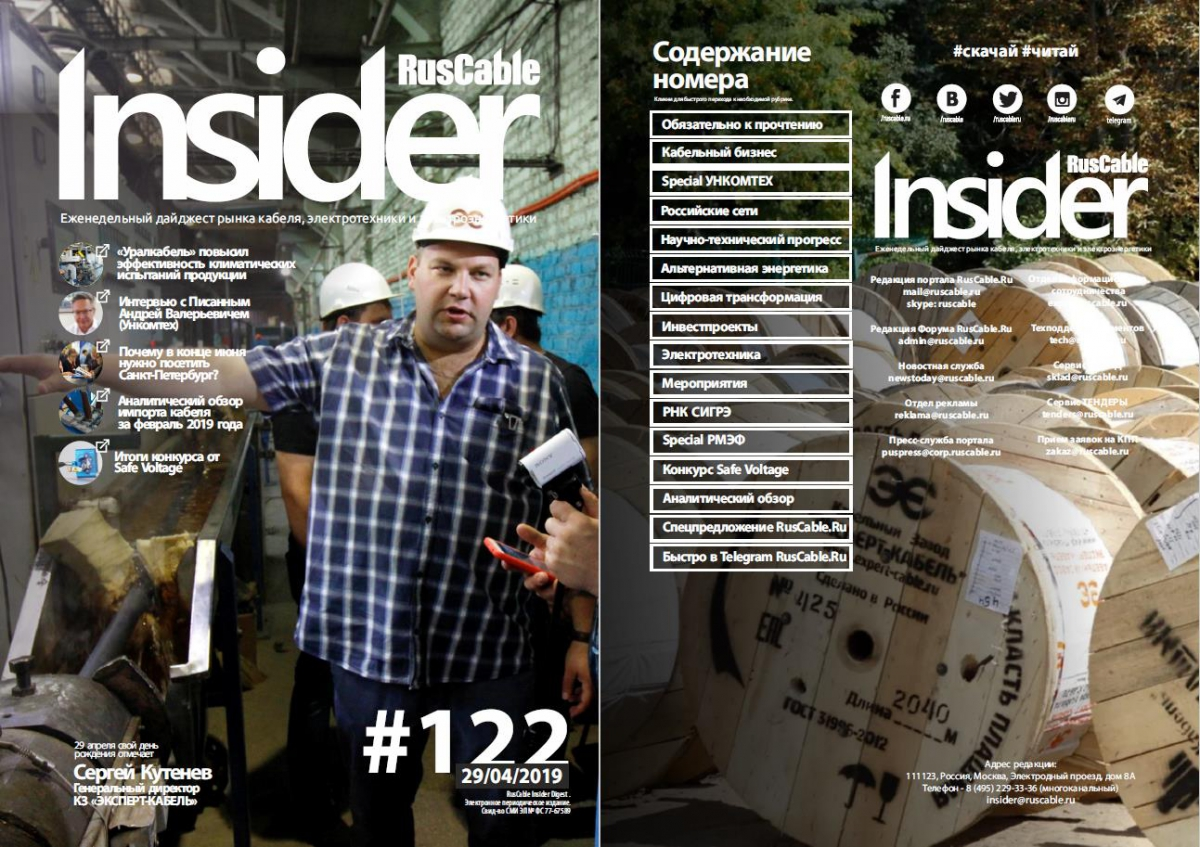 RusCable Insider Digest № 122