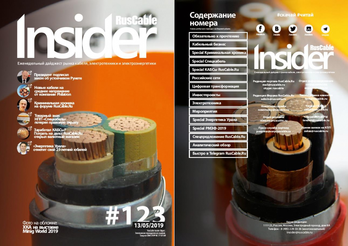 RusCable Insider Digest № 123