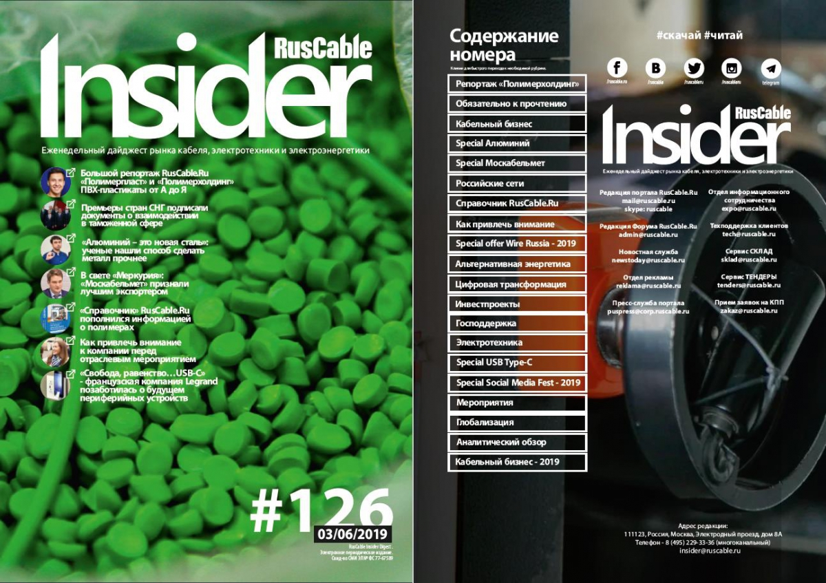 RusCable Insider Digest № 126