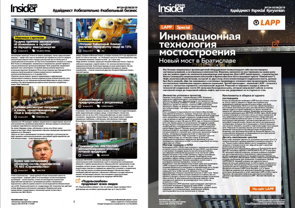 RusCable Insider Digest № 134