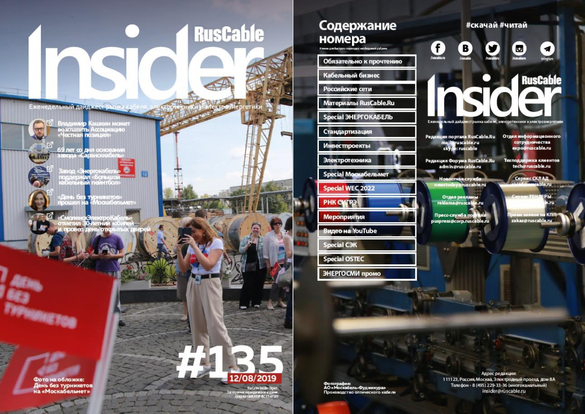 RusCable Insider Digest № 135