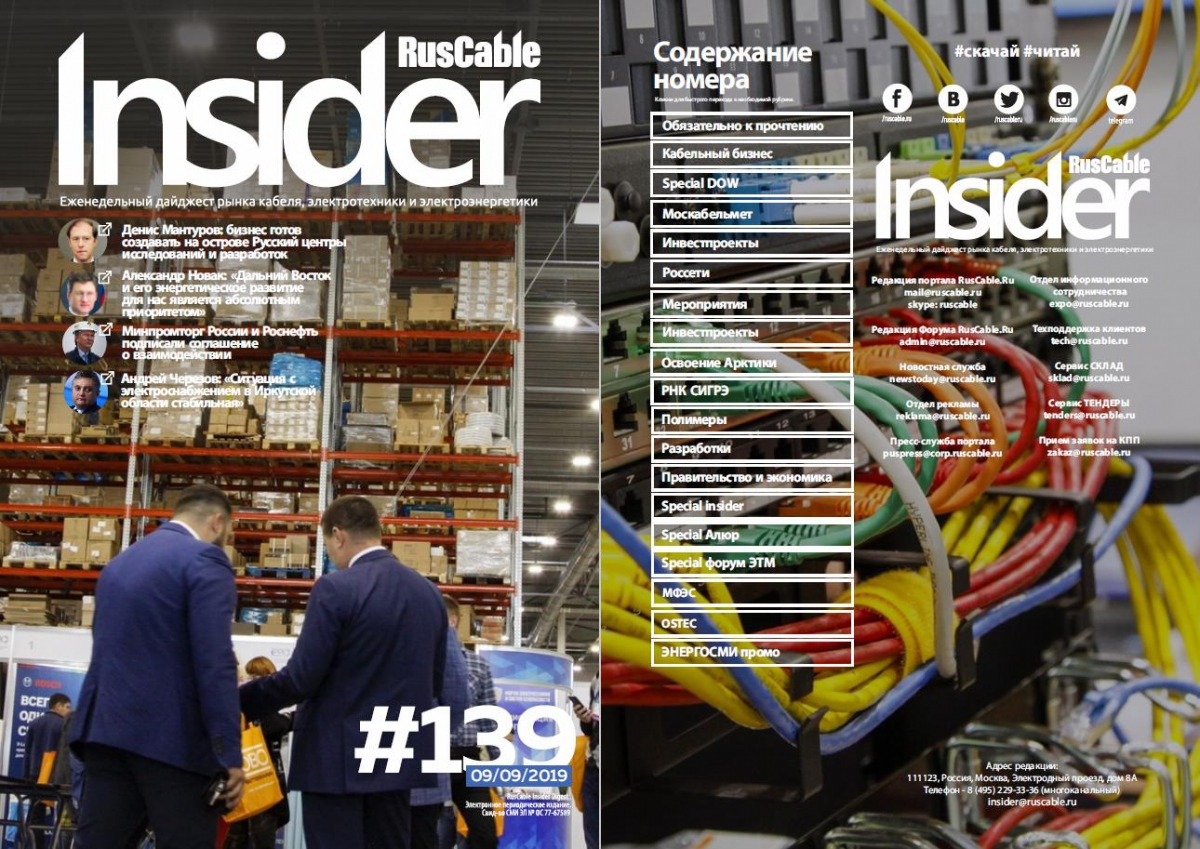 RusCable Insider Digest № 139