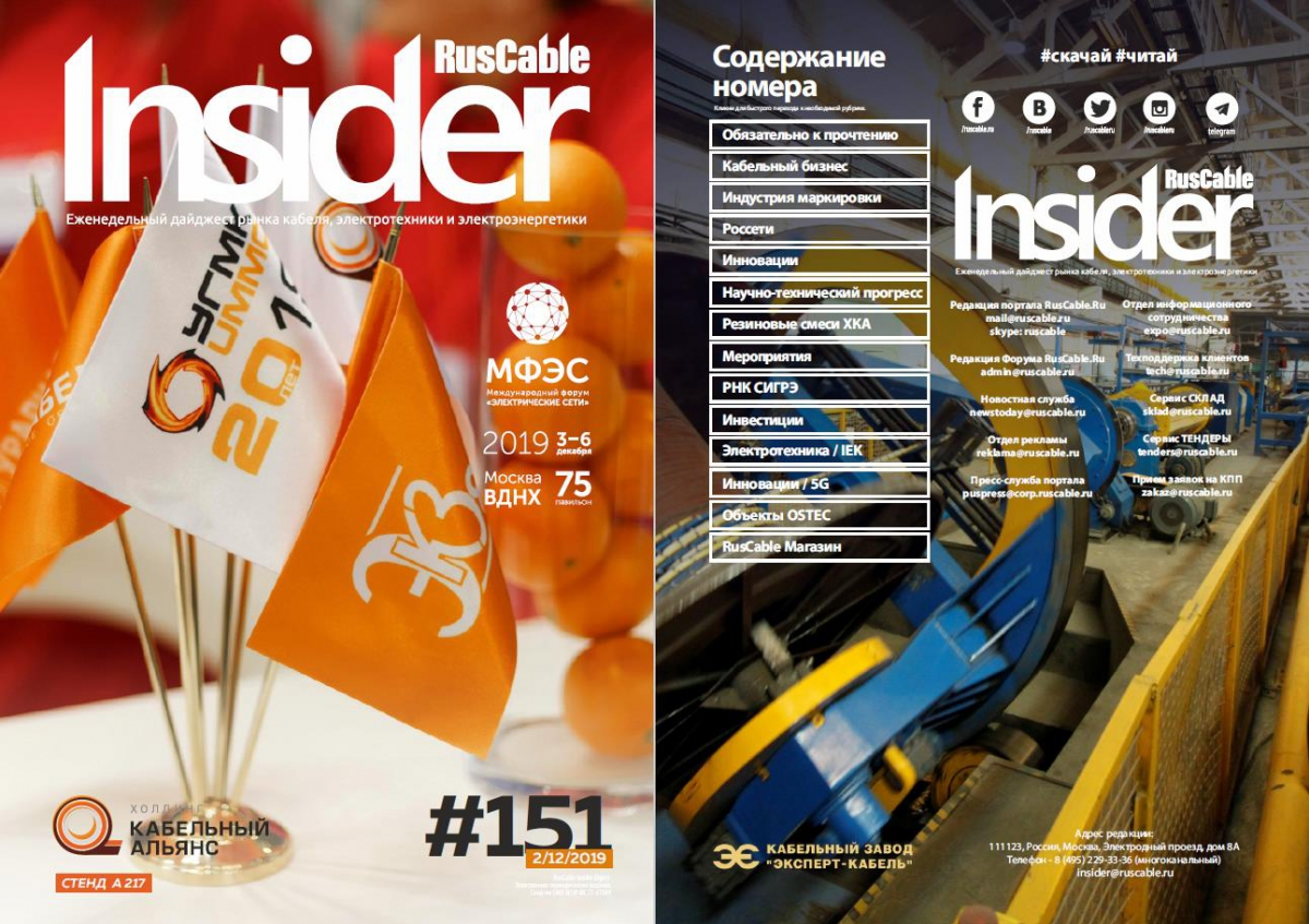 RusCable Insider Digest № 151