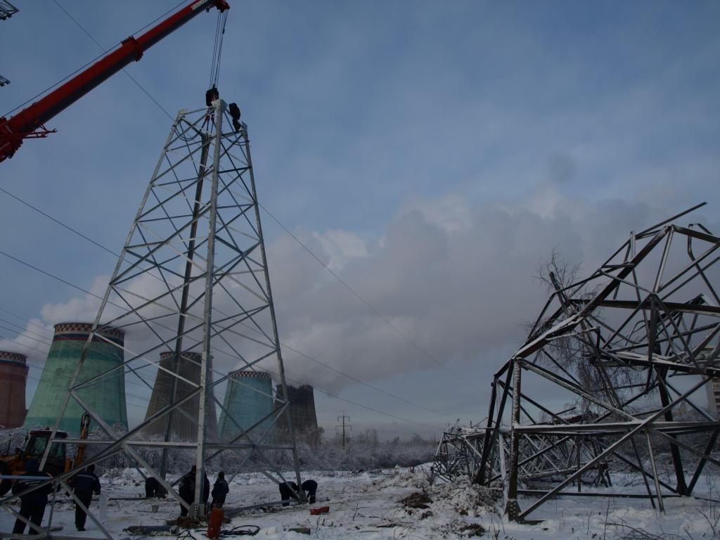 строительно монтажные работы на воздушной линии электропередач