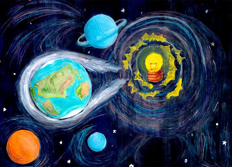 Рисунок ко дню энергетика свет приносит радость, картинки