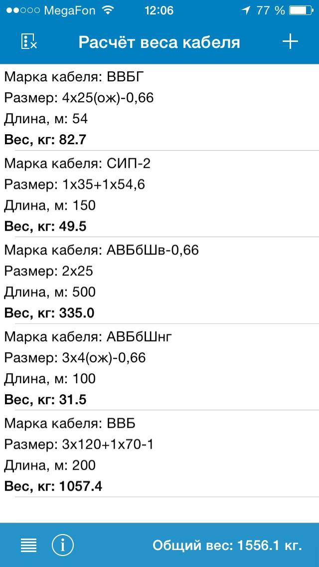 RusCable.Ru, мобильное приложение