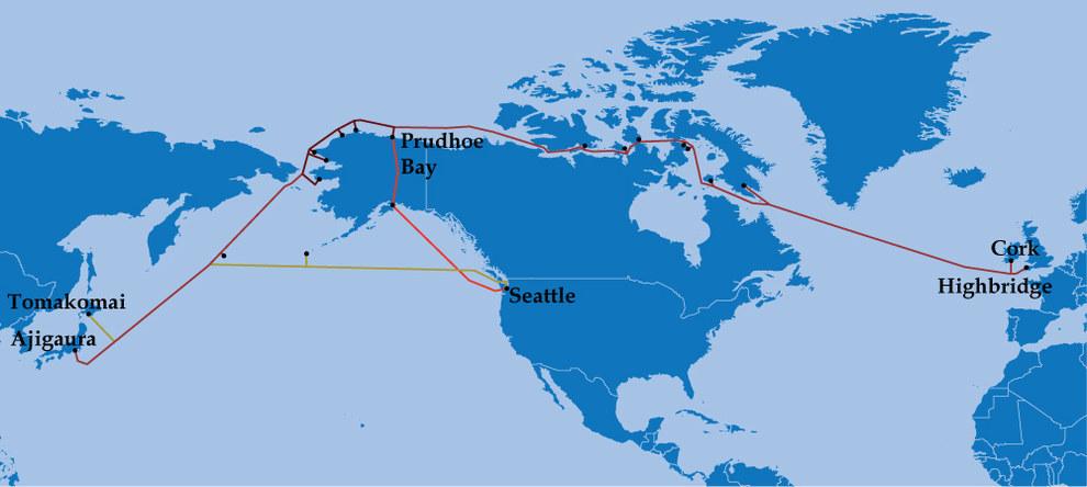 Оптический кабель через Арктику за $620 млн проведут, благодаря глобальному изменению климата