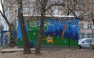МОЭСК задействовала стены трансформаторных подстанций Москвы для пропаганды электробезопасности