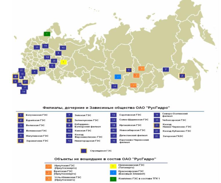 Выработка гэс россии в 2009 году выросла