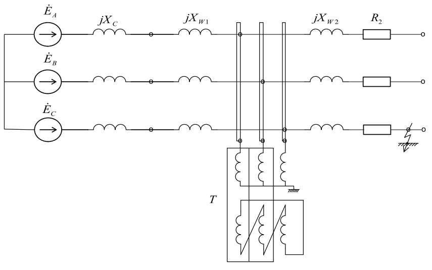 схема участка сети 10 кВ
