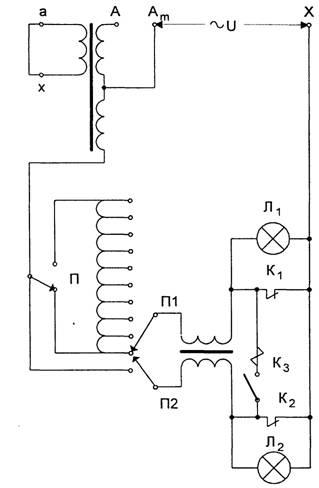 Схема снятия круговой диаграммы переключающего устройства с предизбирателем и мостиковым включением дугогасительных...