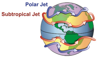 Конфигурация воздушных рек. Автор: Lyndon State College Meteorology