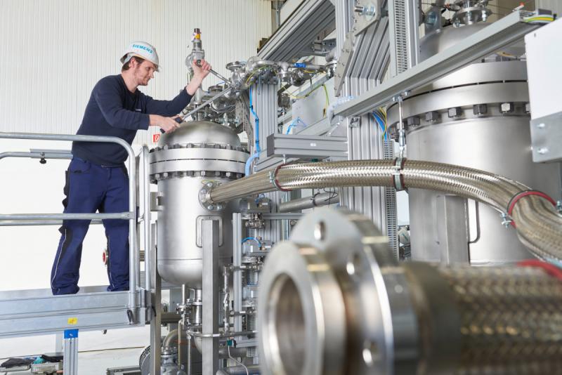 Работа над электролизером Siemens